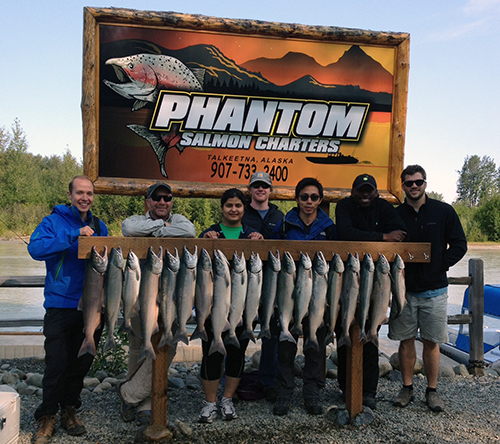 salmon charter fish catches